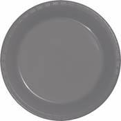 Glamour Gray Plastic Dinner Plates 240 ct