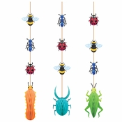 Birthday Bugs Hanging Cutouts 36 ct