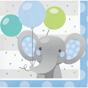 Enchanting Elephants Boy Beverage Napkins 192 ct