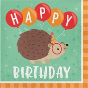 Hedgehog Party Happy Birthday Luncheon Napkins 192 ct