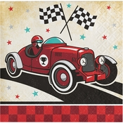 Vintage Race Car Beverage Napkins 192 ct