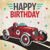 Vintage Race Car Happy Birthday Luncheon Napkins 192 ct