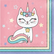 Sassy Caticorn Luncheon Napkins 192 ct