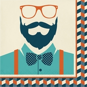 Hipster Birthday Luncheon Napkins 192 ct
