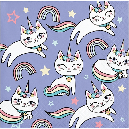 Sassy Caticorn Beverage Napkins 192 ct