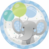 Enchanting Elephants Boy Dessert Plates 96 ct
