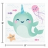 Narwhal Party Beverage Napkins 192 ct