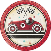 Vintage Race Car Dessert Plates 96 ct