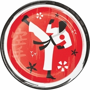 Karate Party Dessert Plates 96 ct