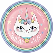 Sassy Caticorn Dinner Plates 96 ct