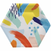 Art Class Hexagon Banquet Plates by Elise 48 ct