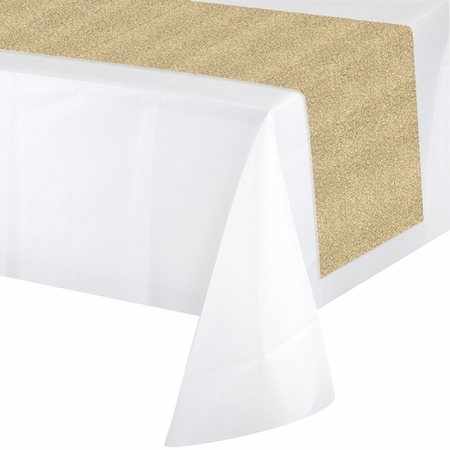 Glittering Gold Table Runners 6 ct
