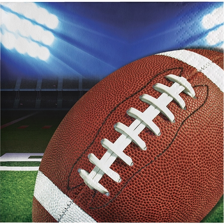 Football Party Beverage Napkins 192 ct