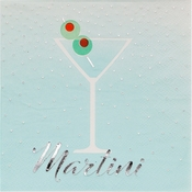 Happy Hour Martini Beverage Napkins by Elise 288 ct