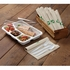 Earth Wise Tree Free 200 ct Divided Heavyweight Catering Box sold in 4 pkgs of 50