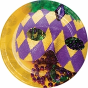 Masks of Mardi Gras Dessert Plates 96 ct