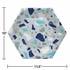 Terrazzo Hexagon Banquet Plates by Elise 48 ct