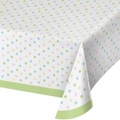 Pastel Polka Dots Plastic Tablecloths 12 ct