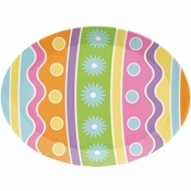 Easter Egg Plastic Serving Trays 12 ct