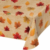 Fall Leaves Vinyl Tablecloths 12 ct
