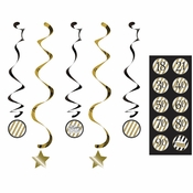Black and Gold Dizzy Danglers 30 ct