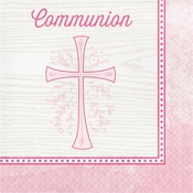 Divinity Pink Communion Napkins 192 ct
