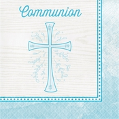 Divinity Blue Communion Napkins 192 ct