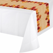 Fall Leaves Plastic Table Runners 12 ct