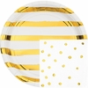 White and Gold Foil Party Supplies