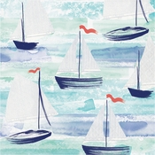 Smooth Sailing Luncheon Napkins by Elise 192 ct