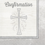 Divinity Silver Confirmation Luncheon Napkins 192 ct