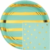 Fresh Mint Green and Gold Foil Party Supplies