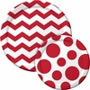 Red Chevron & Dots Party Supplies
