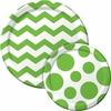 Lime Green Chevron & Dots Party Supplies