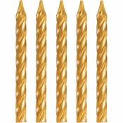 Gold Birthday Candles 288 ct