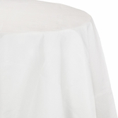 White Octy-Round Paper Tablecloths 12 ct