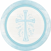 Divinity Blue Dinner Plates 96 ct