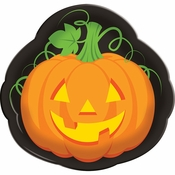 Halloween Pumpkin Serving Trays 12 ct