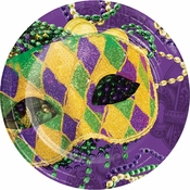 Masks of Mardi Gras Dinner Plates 96 ct