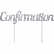 Confirmation Glitter Cake Toppers 12 ct