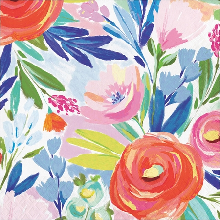 Brushed Florals Luncheon Napkins by Elise 192 ct