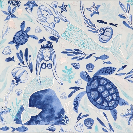 Mermaid Tales Luncheon Napkins by Elise 192 ct