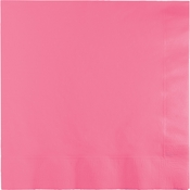 Touch of Color Candy Pink 2 Ply Luncheon Napkins in quantities of 50 / pkg, 12 pkgs / case
