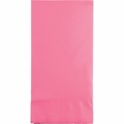 Touch of Color Candy Pink 3 Ply Guest Towels in quantities of 16 / pkg, 12 pkgs / case