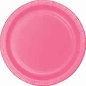 Touch of Color Candy Pink Banquet Plates in quantities of 24 / pkg, 10 pkgs / case