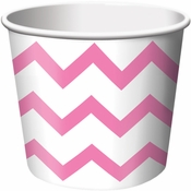 Candy Pink Chevron Ice Cream Treat Cups sold in quantities of 6 / pkg, 12 pkgs / case