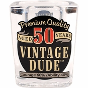 Vintage Dude 50th Birthday Shot Glasses 6 ct