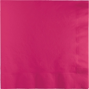 Touch of Color Hot Magenta 2 Ply Luncheon Napkins in quantities of 50 / pkg, 12 pkgs / case