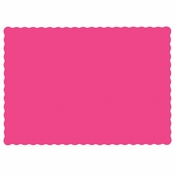 "Raspberry 9.5"" x 13.5"" Economy Paper Placemat, flat packed in quantities of 1000 / case"