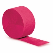 Touch of Color Hot Magenta Crepe Streamer in quantities of 1 / pkg, 12 pkgs / case
